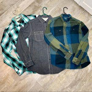 3 men's button down shirts excellent condition